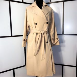 🆕UCOB Double Breasted Cotton/Linen Blend Trench